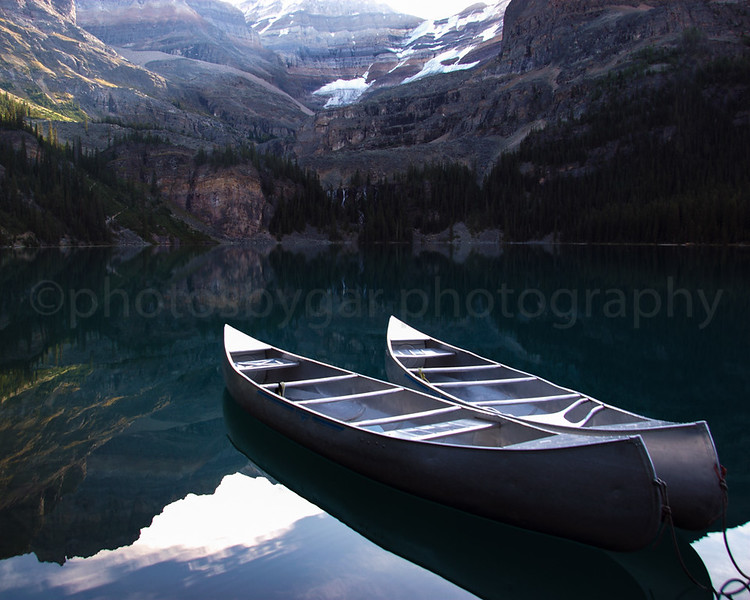 Canoes at Lake O'Hara