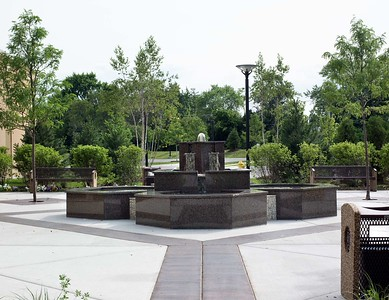 Courtyard of Glenview Jamatkhana (Chicago)