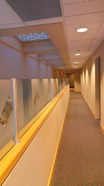 Second floor corridor leading to classrooms.  Headquarters Jamatkhana, Calgary