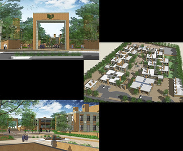 Architect's submission for Aga Khan School, Chitravad (Gujarat), India