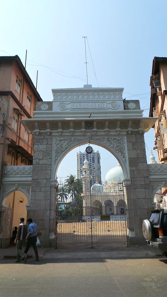 Entrance gate to Hasanabad, Mumbai, India