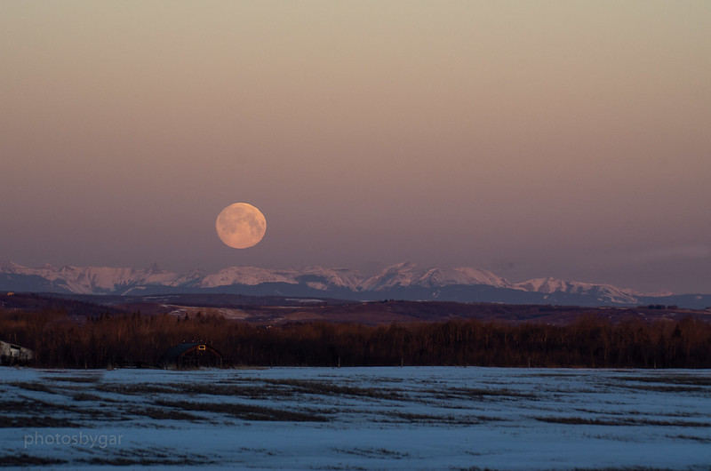 Supermoon Setting