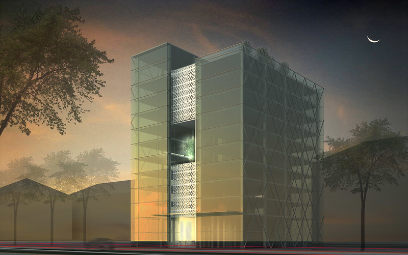 Architect's conceptual design for AKDN office building in Dushanbe, Tajikistan