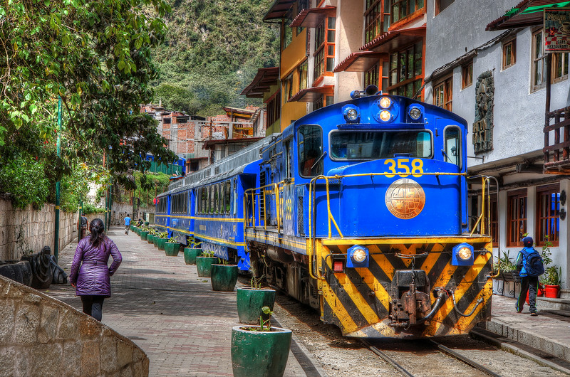 PeruRail in Aguas Calientes, Peru