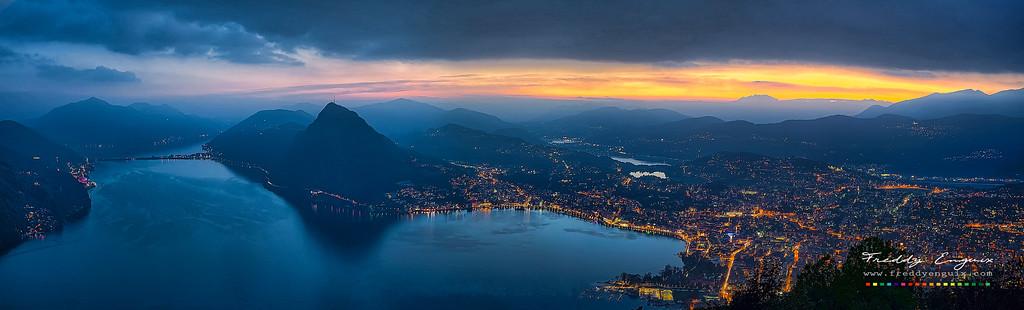 Lugano sunset