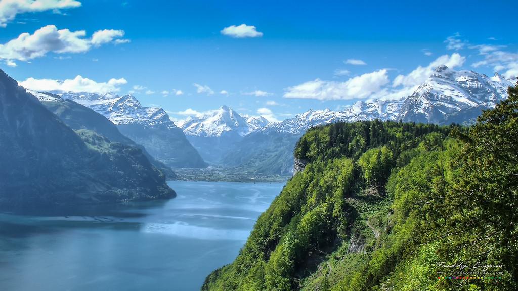 Alpine lakes at summer