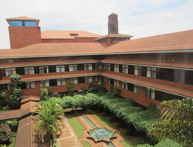 Main courtyard of the Aga Khan University Hospital, Nairobi, Kenya.