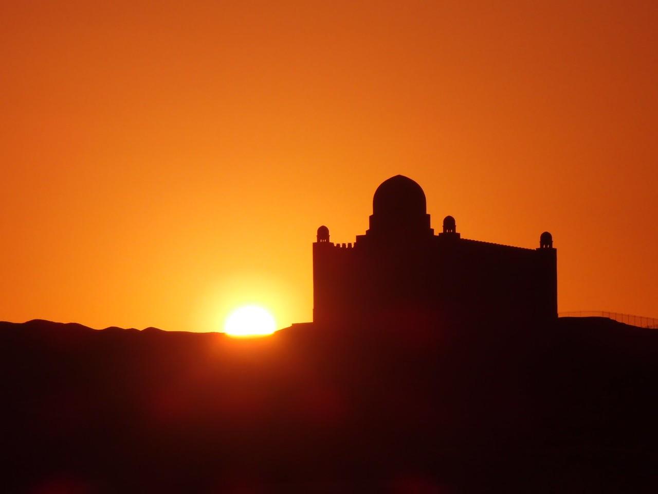 Sunrise at the Aga Khan Mausoleum, Aswan, Egypt