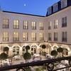 Courtyard of Auberge du Jeu de Paume (Hotel), Chantilly, France