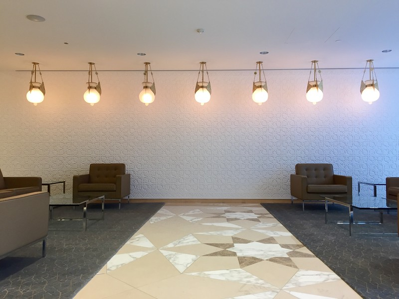 Completed Tajik plaster work at the Ismaili Centre, Toronto