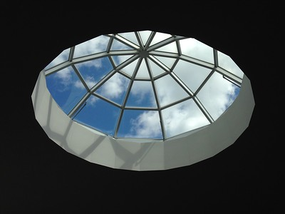Dome skylight, Scarborough Jamatkhana.  Toronto, Canada