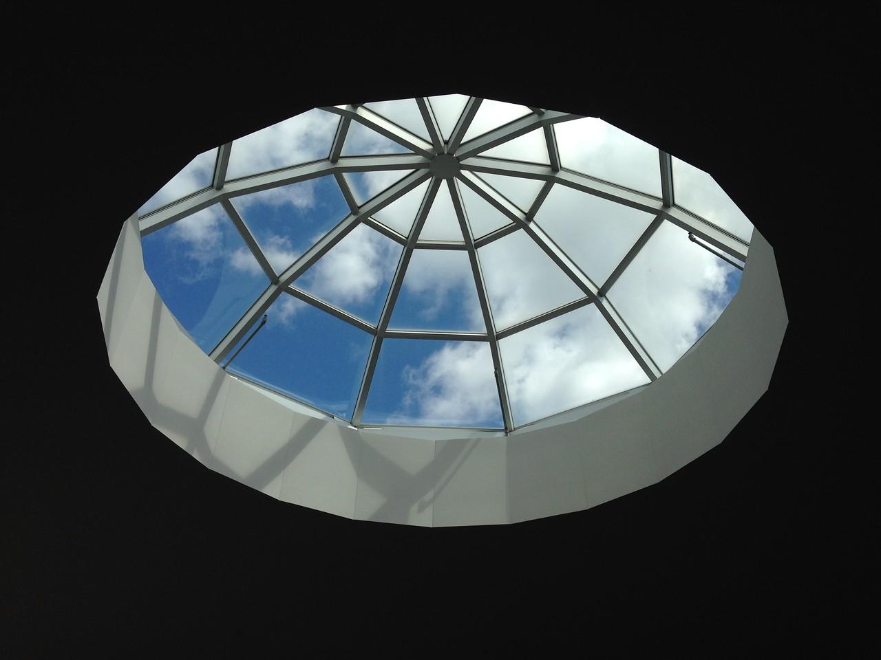 Dome skylight, Scarborough Jamatkhana.  Toronto, Canada