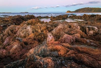 Evening Sky from Surf Beach Rocks