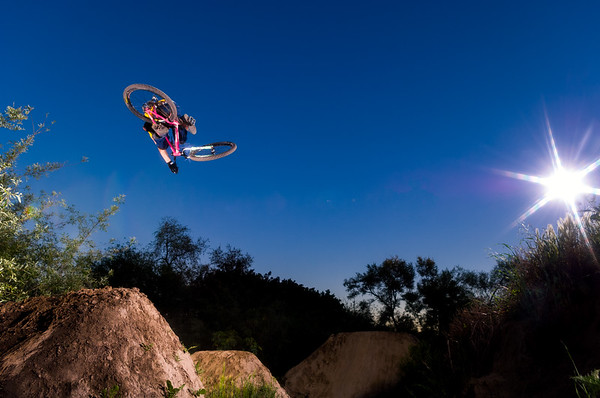 Carlo Dieckman mountain bikes at Hidden Valley jumps