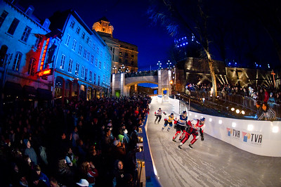 Event: Red Bull Crashed Ice Location: Quebec, Quebec Athlete: Kim Muller, Scott Meyerhoff, Bruno Richard and Gary Hudson