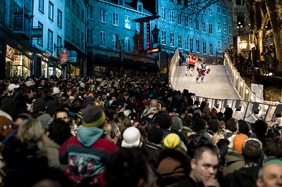 Event: Red Bull Crashed Ice Location: Quebec, Quebec Athlete: Martin Niefnecker and Louis Philippe Dumoulin