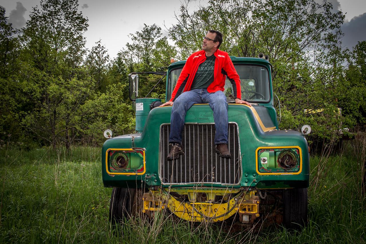 Mac Truck Self Portrait