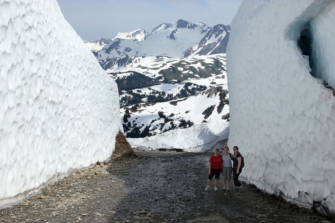Snow walls on Whistler