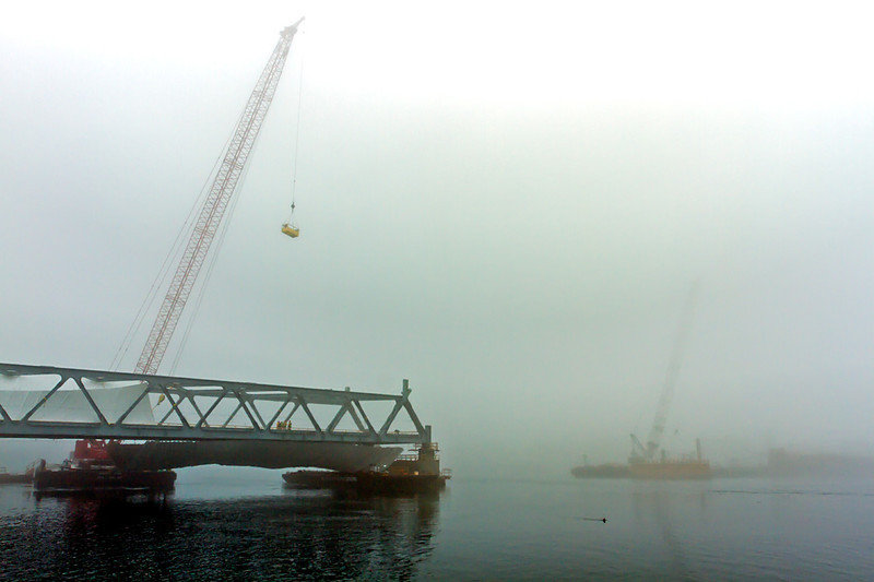 Memorial Bridge under construction