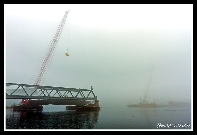 Memorial Bridge under construction
