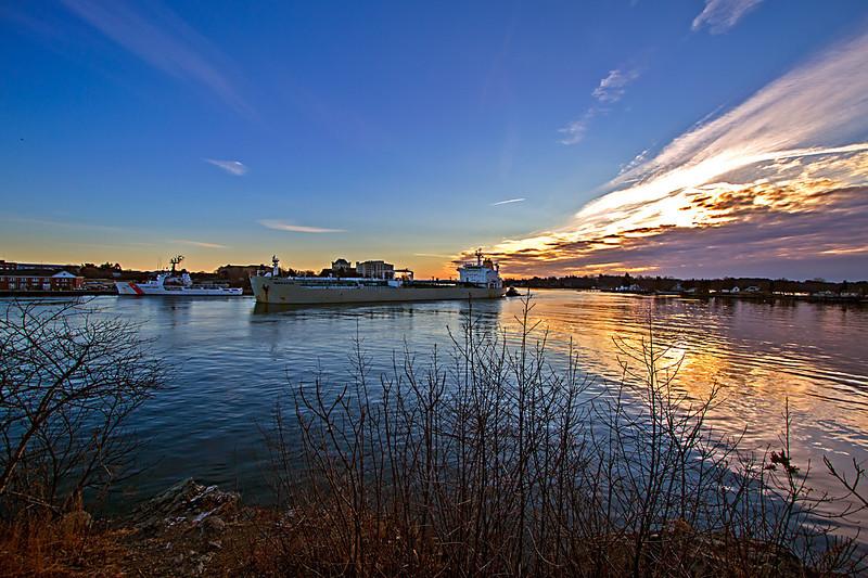 NOR EASTER oil tanker entering Portsmouth harbor