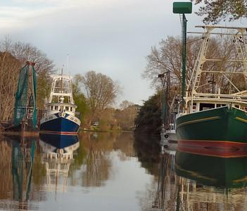 Shrimp Boats along Bayou Petit Caillou