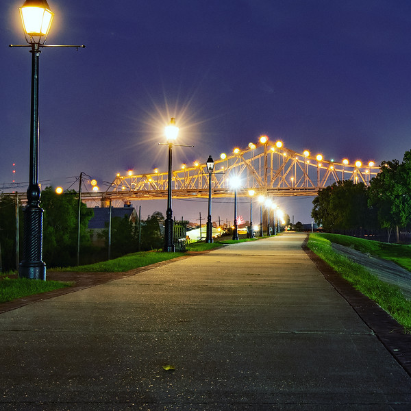 Walk Along the Mississippi River Levee