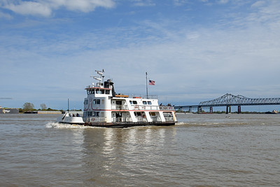 Algiers Point Ferry taken passengers from New Orleans to Algiers Point