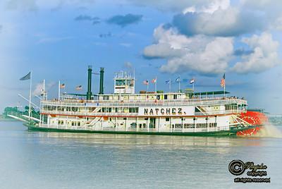 Tourist Steam Boat Natchez along the River