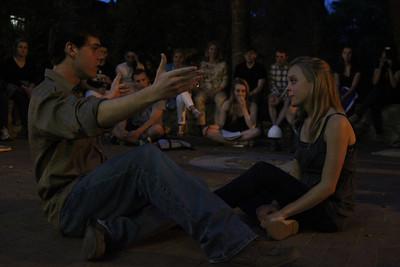 Midsummer Night's Dream Hermia: Erika Edwards  Lysander: Byron Frazelle