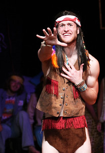 Richard Walden, a sophomore Dramatic Arts and Psychology major from Asheville, NC, performs the role of Berger in UNC Pauper Players performance in Hair.