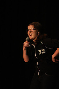 """Marcie Maier, sophomore psychology major was one of the opening acts   """"I am a big fan of Lewis Black and I really enjoy being involved in the community,"""" Maier said  This is Lewis Black's tenth year coming to UNC for an annual comedy show. Originally Katie Nelson, who worked on a humor magazine asked Lewis to do this. """"It's been going strong ever since!"""" he said. Three UNC students, along with other comedians, opened for Lewis: senior Jack Morgan, sophomore Marcie Maier, and junior Memet Walker. The show was held in the Student Union auditorium at 7 p.m. on Friday and Saturday."""