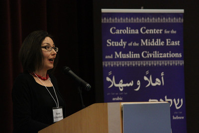 Dr. Banu Gökarıksel presents at the ReOrienting the Veil conference that took place February 22-23rd in the FedEx Global Center.