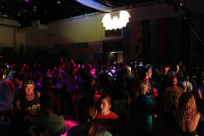 Dancers danced all night in Fetzer gym under the Batman light for 24 hours.