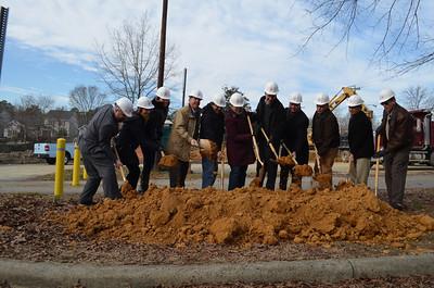 PTA Thrift Shop had a groundbreaking on Thursday morning at 9:30am. The reconstruction will provide a larger retail space for the thrift shop as well as space that will be leased to businesses.