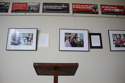 FORWARD TOGETHER!: IMAGES OF MORAL MONDAYS will be on exhibit in the Fellowship Hall at United Church of Chapel Hill, 1321 MLK Blvd., from Jan. 22 through Feb. 28. The exhibit features photographs by Dave Otto, oil paintings by David Taylor, and  narrative by Harry Phillips. The aim of the project is to place the exhibit in areas of the state where Moral Mondays have not been scheduled.