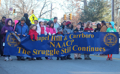 MLK Rally, March, and Worship Service from Peace and Justice Plaza to the First Baptist Church.
