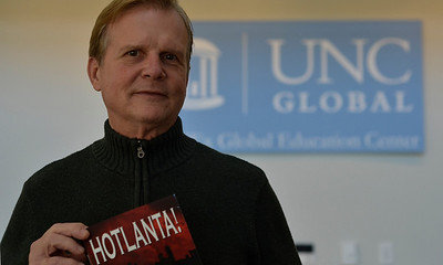Mark Nielsen will host an official book launch for his first book, Hotlanta!, on Friday at the Fedex Global Education Center.
