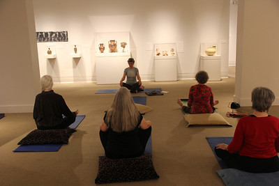 Participants explore the world of yoga amidst the galleries of the Ackland Art Museum in an hour-long yoga class led by Joanna Marshall. Yoga in the galleries is an opportunity to practice a series of gentle yoga poses inspired by the art in the gallery.
