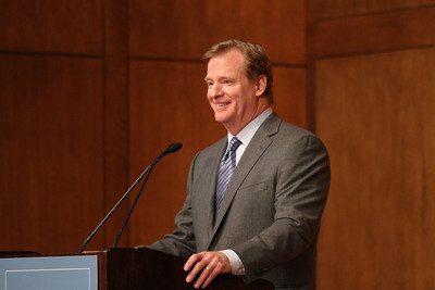 NFL commissioner Roger Goodell came to UNC's campus as a guest speaker at the annual Carl Blythe Lecture hosted by the the Department of Exercise and Sport Science. Goodell spoke about concussions and football safety before answering questions from the audience.