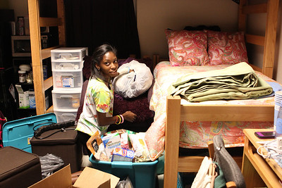 Danielle Jameison, who was shot Jan. 7 in her home in Greensboro, moves back into her dorm on Saturday.