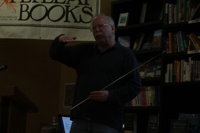 Professor of Germanic Languages and Linguistics Paul T Roberge gives a talk on the intricacies of Viking culture at Flyleaf Books. The talk, part of the Spotlight on Scholars series, is free to UNC students.
