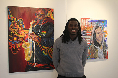 Lamar Whidbee, a graduate of NC Central University and originally from Elizabeth City, currently has art on display in the Union Gallery exhibit 'Black Like Me' along with other community artists, including UNC artist Will Thomas.