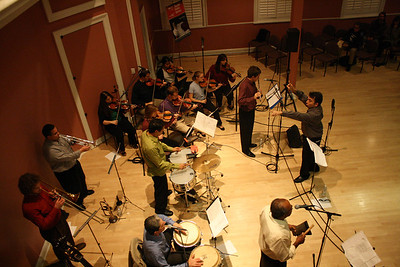 Charanga Carolina performs in Gerrard Hall on Tuesday night.  The group, featuring UNC undergraduates, graduate students, and several guest musicians, plays Cuban charanga music.  David Garcia, a UNC music professor, conducted the group.