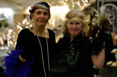 Gwen Brunett and Garole Seitz enjoy The Gatsby Gala at the Seymore Center on Saturday Night.