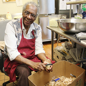 """Mildred Council, the true """"Mama Dip,"""" was awarded a place in the Chapel Hill-Carrboro Chamber of Commerce Hall of Fame for her influential presence in the community."""