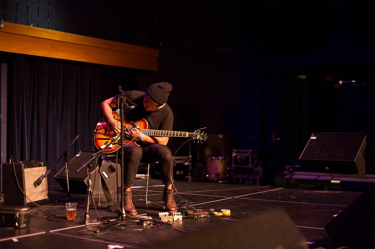 Tashi Dorji performs at the Kennedy Theatre.