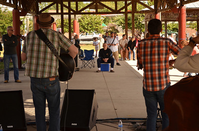 BarleyCorn and Rye, a band based out of Durham, perform at the Folklife Festival on Saturday.