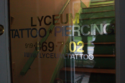 Lyceum Tattoo and Piercing recently moved into 203 3/4 East Franklin St.