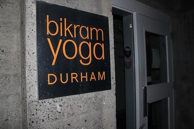 bikram yoga, a new yoga studio, opened in Durham recently.
